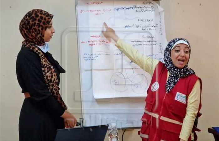 تدريب متطوعى الهلال ومقدمي الخدمة الصحية الأولية بشمال سيناء
