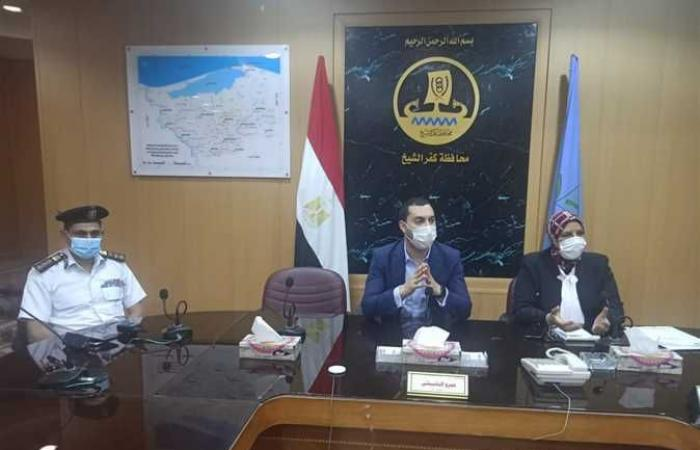 نائب محافظ كفر الشيخ يناقش تطوير شبكة الطرق