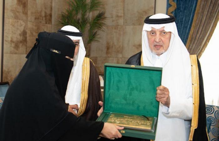 أمير مكة يكرّم دلال القحطاني لفوزها بجائزة حمدان آل مكتوم
