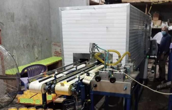 ضبط مصنع للكريمات بدون ترخيص والتحفظ على المنتجات وضبط لحوم فاسدة بشبين الكوم