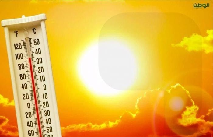 مكة والمدينة المنورة الأعلى حرارة