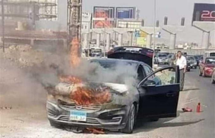 """""""حماية المستهلك"""" يطلب من صاحب سيارة محترقة على المحور التوجه إليه"""