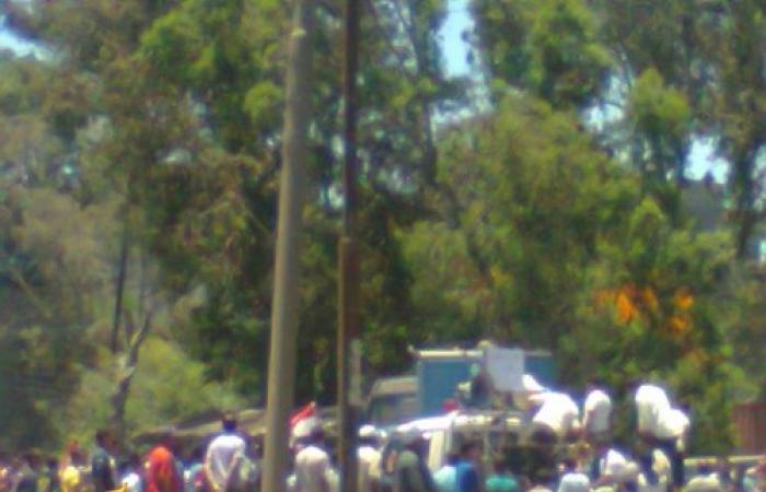 مظاهرات حاشده بقريه شرباص التابعه لمركز فارسكور -محافظة دمياط.