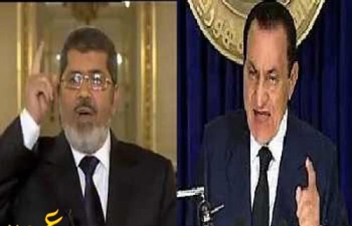 """"""" مرسي """" يصاب بنوبة عصبية بعد مرافعة مبارك"""