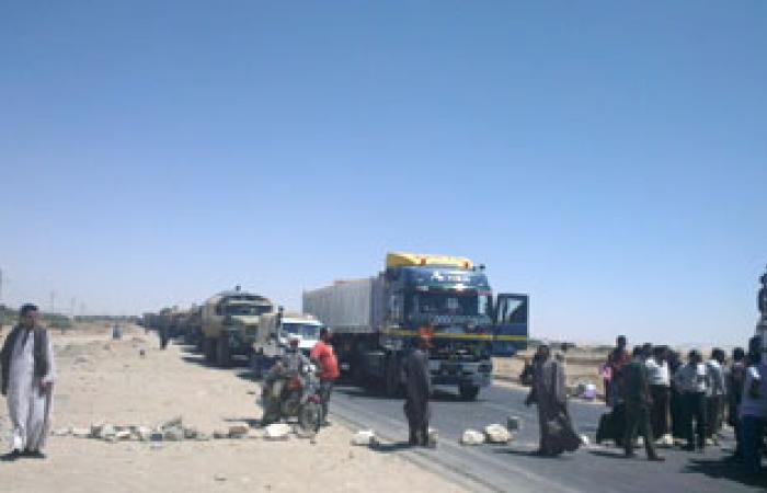 فتح طريق منيا القمح بعد وعود الأمن بتحديد مكان سيدة مختفية