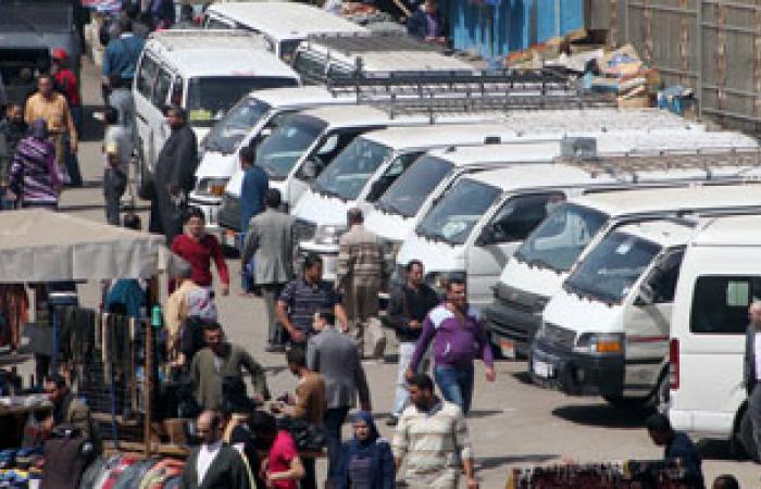 إضراب سائقى السيرفيس بموقف حلوان واستمرار العمل بباقى مواقف العاصمة