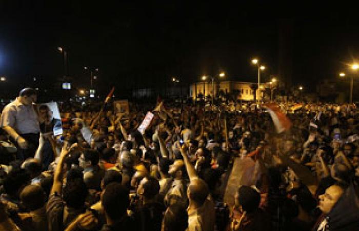 مؤيدى الرئيس مرسى ينطلقون من أمام مسجد الميناء الكبير بالغردقة