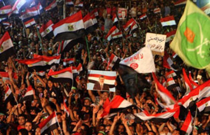 """شباب اللجان الشعبية بـ""""رابعة"""" يرفعون شعار """"مشروع شهيد"""""""