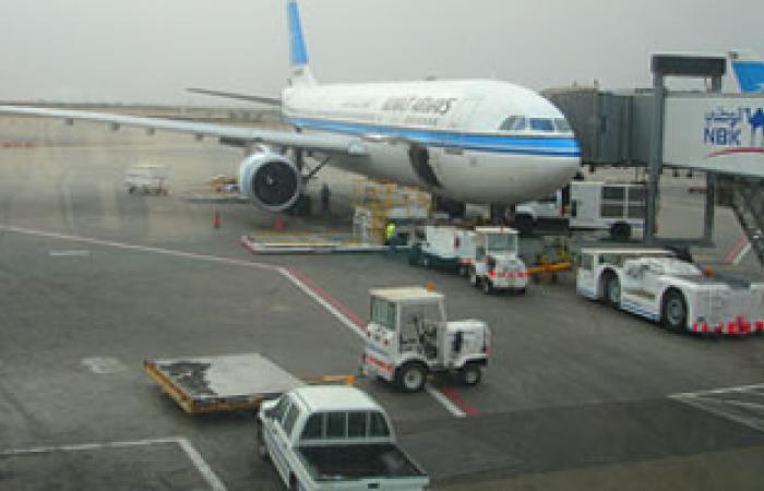 حركة الملاحة الجوية فى مطار الكويت طبيعية