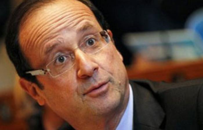 هولاند يعرب عن تضامنه مع لبنان لمواجهة الأزمة فى سوريا