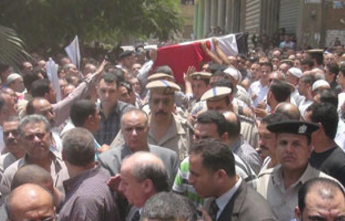 تشييع جنازة شهيد الشرطة فى سنهور بالفيوم
