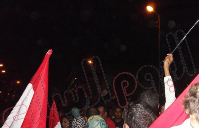 بالصور..تزايد أعداد المتظاهرين أمام ديوان عام محافظة المنوفية