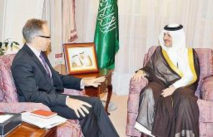 الأمير سعود بن نايف يستقبل السفير الأسترالي