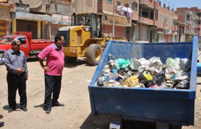 تطبيق مشروع النظافة فى مركز ناصر ببنى سويف