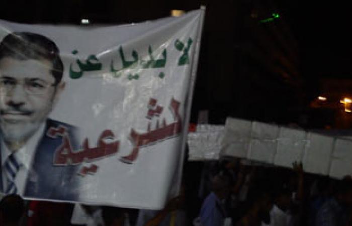 أنصار الرئيس المعزول ينظمون وقفة احتجاجية بميدان الثقافة فى سوهاج
