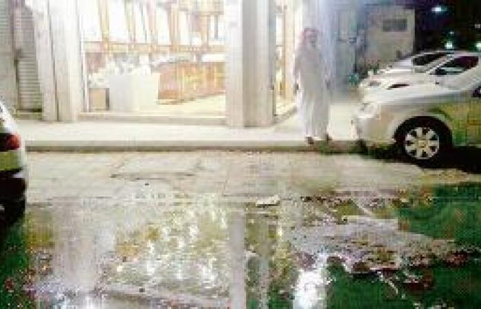 مياه آسنة تحاصر سكان شارع التلفزيون