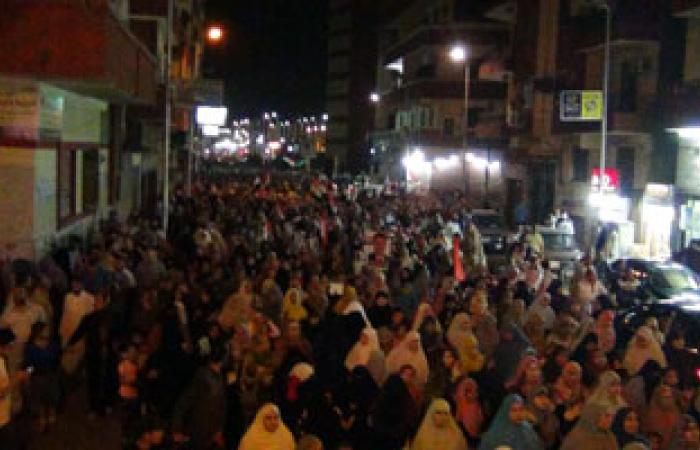 مسيرة للتحالف الوطنى المؤيد لمرسى فى مليونية ليلة القدر بالفيوم