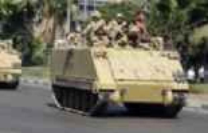 انتشار 8 مدرعات عسكرية بمحيط ميدان رابعة العدوية