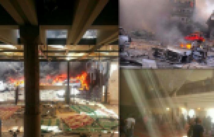 بالفيديو.. كاميرا مراقبة تسجل لحظة انفجار مسجد في طرابلس شمالي لبنان