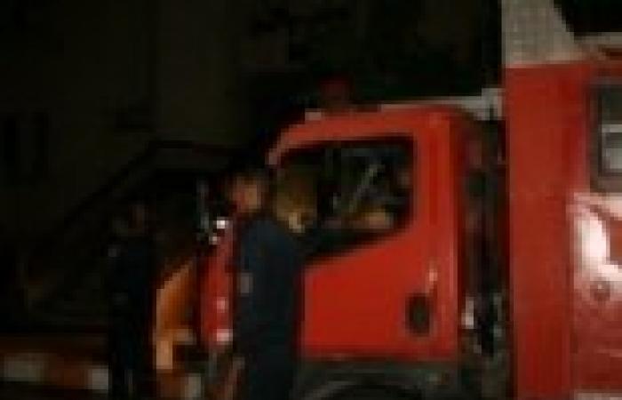 ontv: حريق بمساكن الأباجية على طريق الأوتوستراد