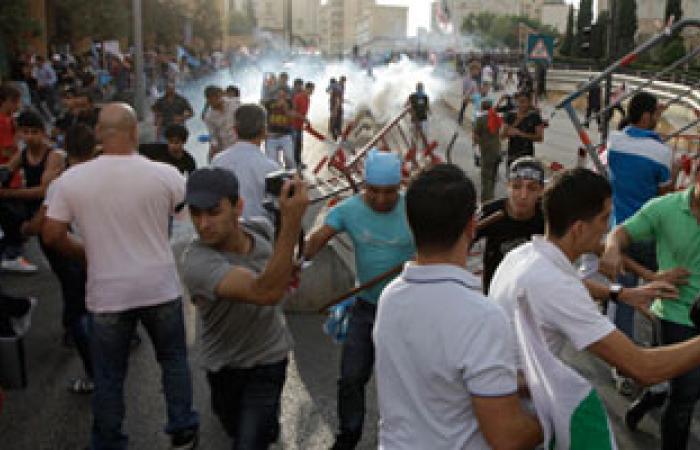 مظاهرة فى لبنان رفضا للضربة الأمريكية المحتملة لسوريا