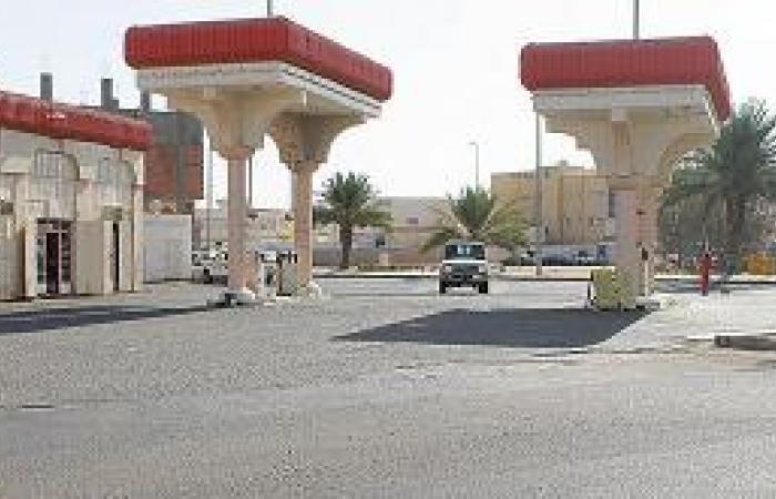 محطة وقود في عنق الزجاجة الخطرة