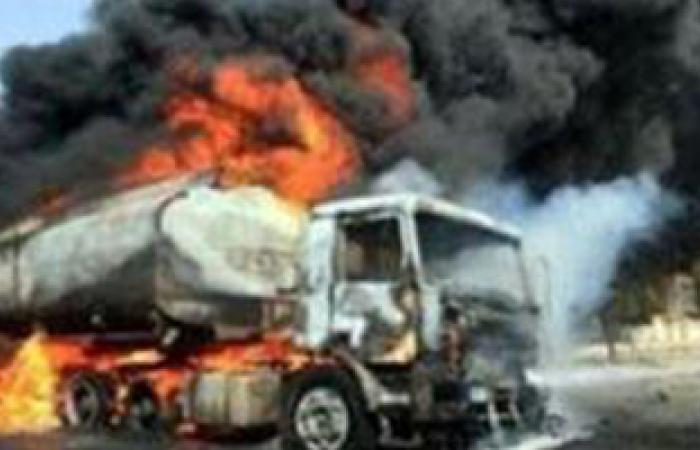 السيطرة على حريق شب بناقلة وقود شرق مدينة الرياض السعودية