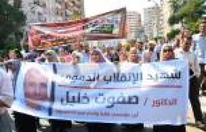 بالصور.. مسيرة أنصار مرسي بالمنصورة تنديدًا بوفاة القيادي الإخواني في محبسه