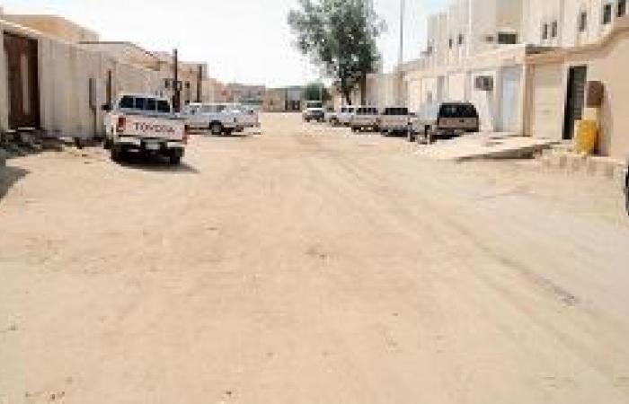 منطقة صحراوية في حي الحرمين بالدوادمي