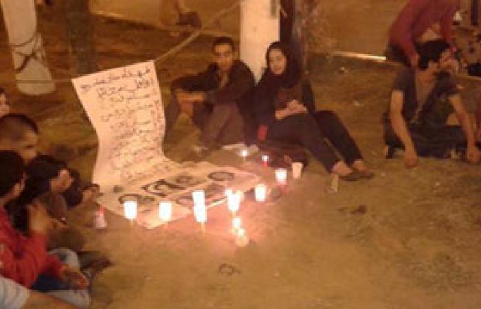 """وقفة بالشموع لنشطاء دمنهور لإحياء ذكرى استشهاد """"مينا دانيال"""""""