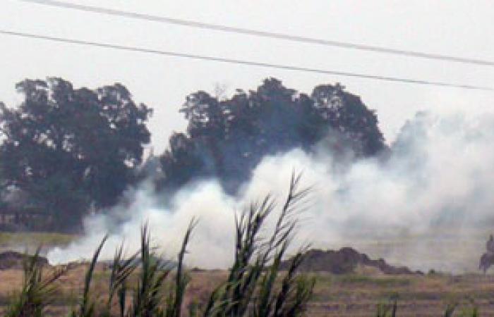 السحابة السوداء تغطى سماء الدقهلية بسبب حريق قش الأرز