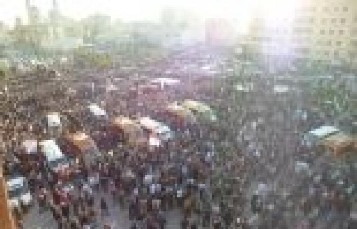 هتافات ضد الإخوان وصورة السيسي في جنازة شعبية وعسكرية لـ12 من شهداء الدقهلية
