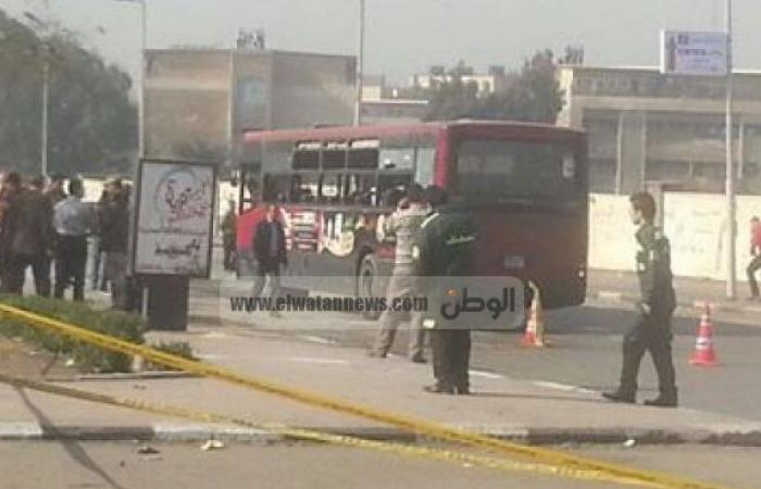 عاجل| تحريك أوتوبيس النقل العام الذي انفجرت قنبلة مدينة نصر أثناء مروره