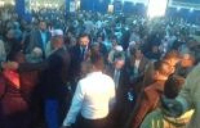 بالصور| بدء المؤتمر الجماهيري لتأييد الدستور بحضور بكري وجمال الدين وقيادات قنا والأقصر