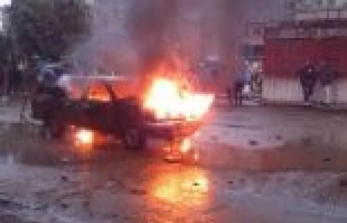 بالفيديو| لحظة إشعال الإخوان النار في سيارة شرطة بالزيتون