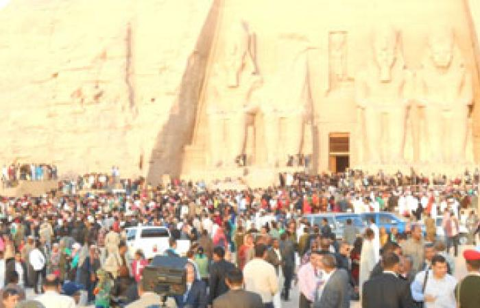 بدء فعاليات تعامد الشمس على معبد أبو سمبل
