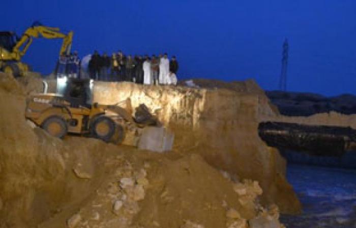 الإسكان: إصلاح الجسر المنهار بمحطة صرف بنى سويف الجديدة