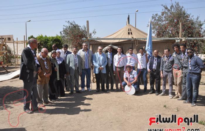 رئيس جامعة حلوان يفتتح المهرجان الكشفى لجوالى كليات الجامعة