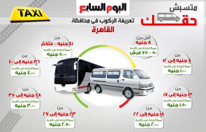 متسبش حقك.. إنفوجرافك تعريفة الركوب فى محافظة القاهرة