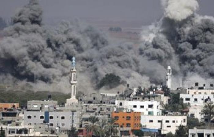 مظاهرة فى غزة لأصحاب البيوت المدمرة احتجاجا على توقف الاعمار