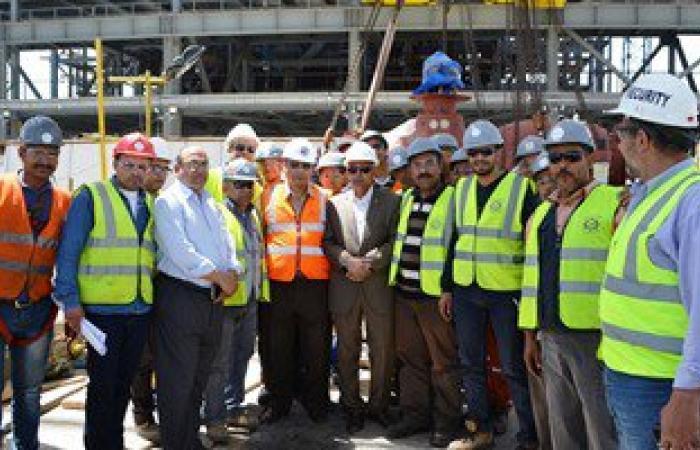 محافظ السويس يتفقد أعمال الإنشاءات بمحطة الكهرباء الحرارية