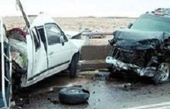 إصابة 13 شخصا فى حادث تصادم سيارتين بالطريق الزراعى بالبحيرة