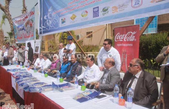 بالصور.. انطلاق مهرجان الدراجات الثانى فى الفيوم