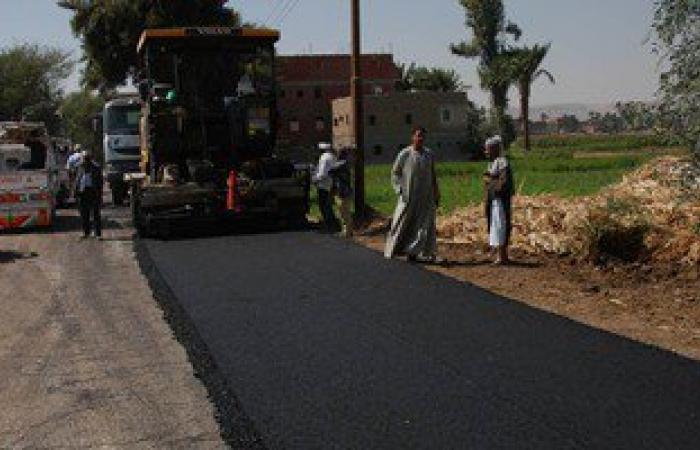 إعادة رصف طريق غيط النصارى بطول 1 كم وبتكلفة 550 ألف جنيه