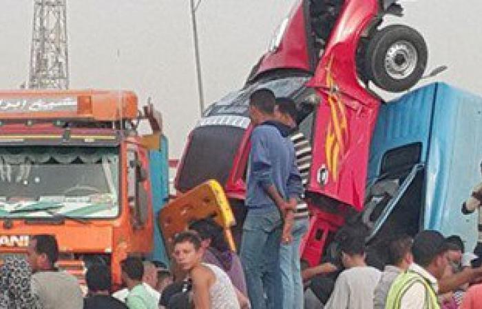 إصابة 5 مواطنين فى اصطدام 4 سيارات أعلى الدائرى