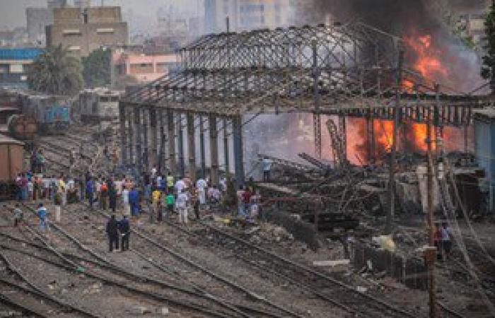 رئيس السكة الحديد: حريق بولاق شب بسبب مخلفات الورش ولم يوقع خسائر