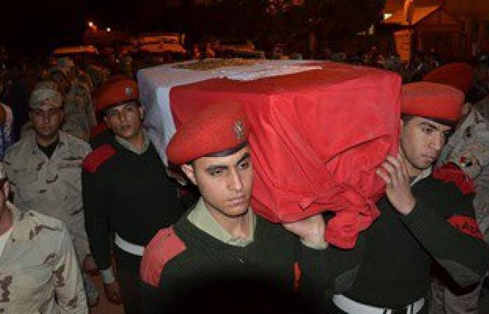 تشييع جثمان مجند استشهد بالعريش بمسقط رأسه فى الشرقية
