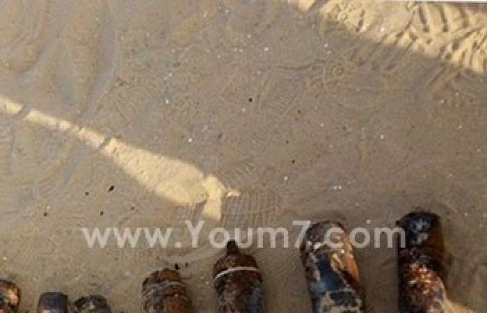 بالصور.. العثور على مخبأ دانات من مخلفات الحرب بالقنطرة شرق