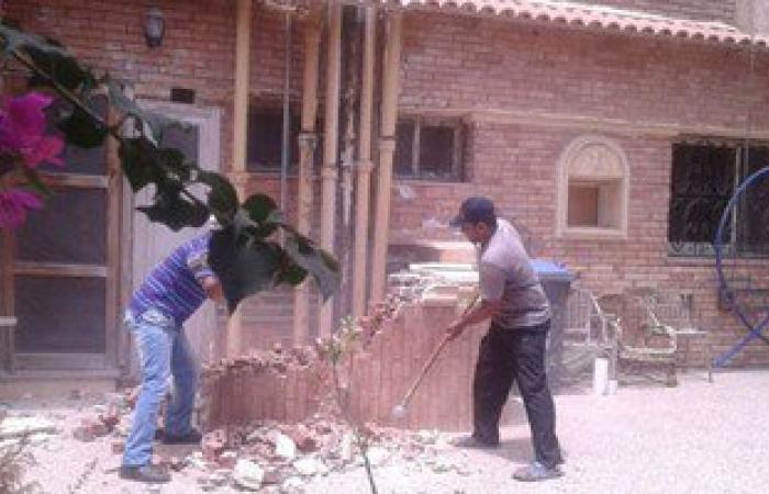 حملات إزالة للمبانى المخالفة بمنطقة طوسون والمعمورة شرقى الإسكندرية