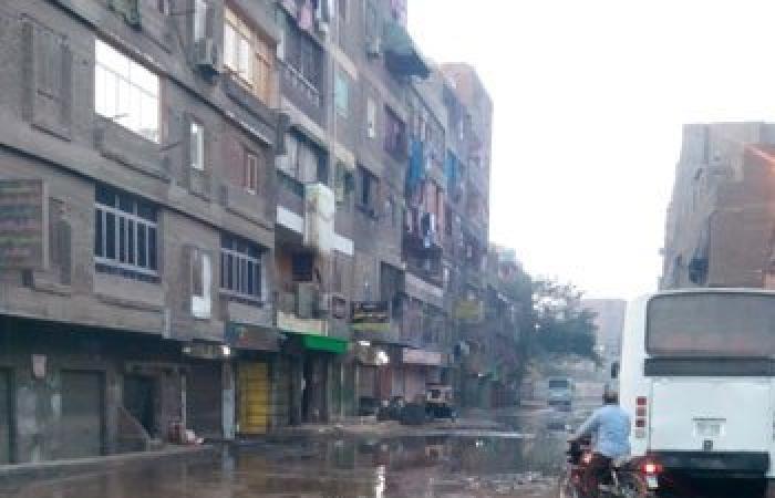 بالصور.. انفجار ماسورة مياه بحى غرب شبرا الخيمة وغرق الشوارع الرئيسية
